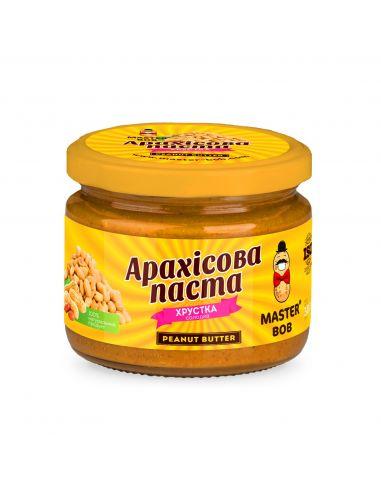 Паста арахисовая сладкая хрустящая, Мастер Боб, 200г.