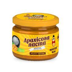 Паста арахисовая соленая хрустящая, Мастер Боб, 200г.