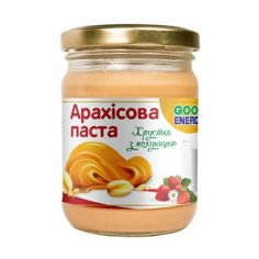 Паста арахисовая хрустящая с клубникой, GoodEnergy, 250г.