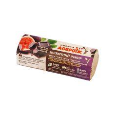 """Батончик глазурований чорним шоколадом """"Шляхетний інжир"""", Доброїж, 36г"""