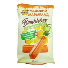 Мармелад медовий Bumblebee, Мед-Яблуко-М'ята, Marbee, 50г