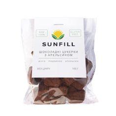 Цукерки шоколадні з апельсином, Sunfill, 100г