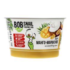 """Десерт рослинний """"Манго-Маракуйя"""" на кокосовому кремі, Равлик Боб, 180г"""