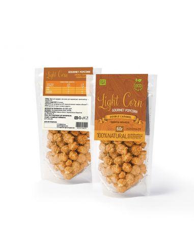 Попкорн gourmet Подвійна карамель, Light Corn, 60г