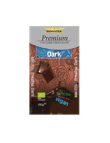Шоколад чорний 71% без лактози і глютену, BonVita, 100г.