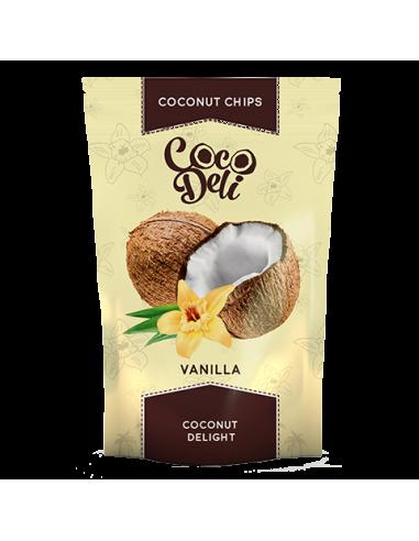 Чіпси кокосові з ваніллю, Coco Deli, 30г