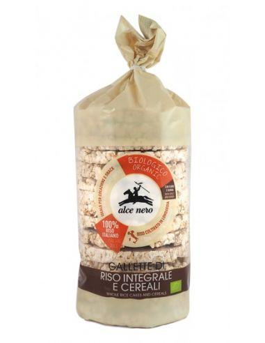 Хлібці рисові 4 злаки, Alce Nero, 100г