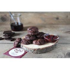 Печенье шоколадное (веганское), Марципан,190гр.