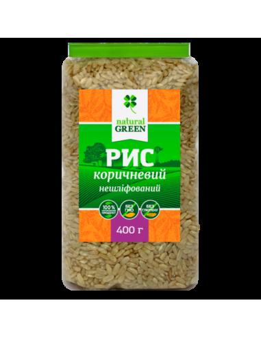 Рис коричневый цельнозерн., NATURAL GREEN, 400г