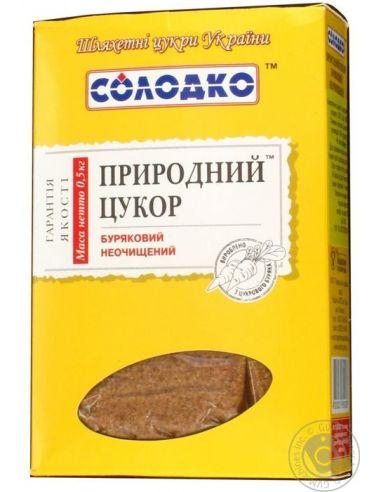 Сахар свекольный нерафинированый, Солодко, 500г