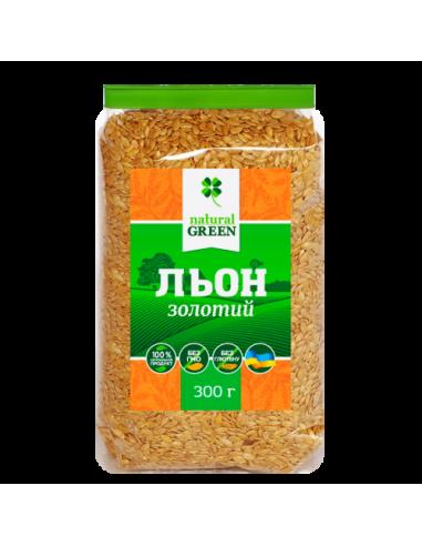 Семена золотого льна, NATURAL GREEN, 300г