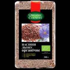 Насіння льону, Україна, Organic Country, 300г