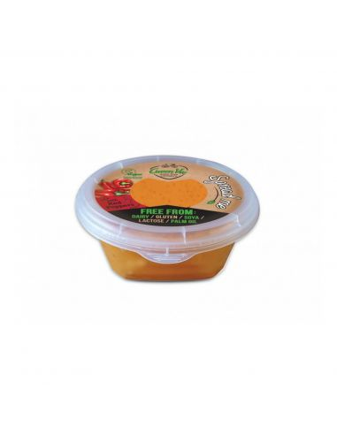 Сир м'який рослинний c паприкою, Greenvie, 250г.
