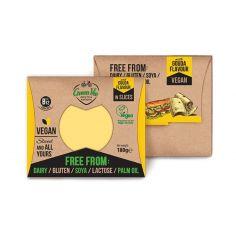 Сир рослинний гауда, скибочки, GreenVie, 180г.