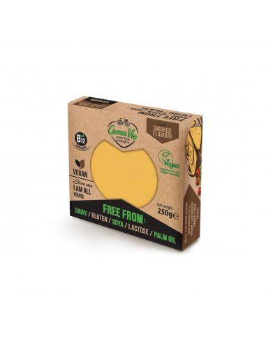 Сир рослинний копчений гауда, блок, GreenVie, 250г.