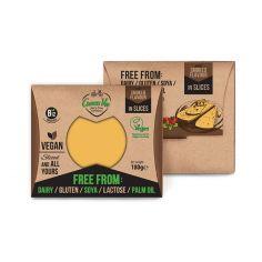 Сир рослинний копчений гауда, скибочки, GreenVie, 180г.