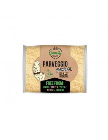 Сир рослинний пармезан тертий, GreenVie, 100г.