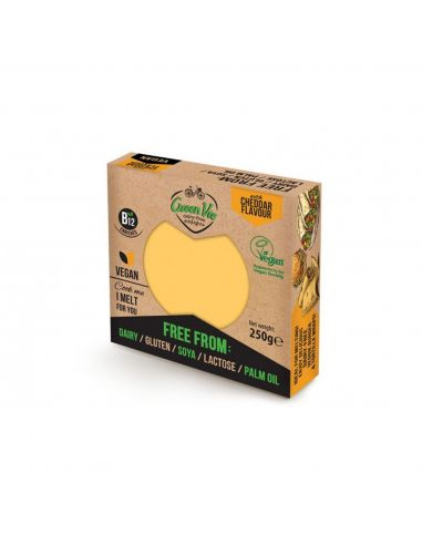 Сир рослинний чеддер, блок, GreenVie, 250г.