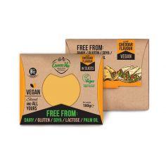 Сир рослинний чеддер, скибочки, GreenVie, 180г.