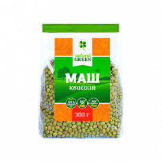 Квасоля маш (мунг), NATURAL GREEN, 300г