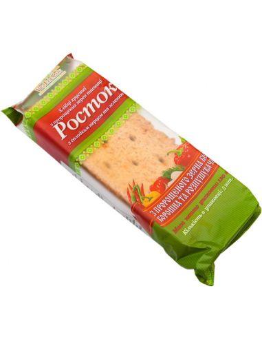 Хлібці з пророщеної пшениці з паприкою, Росток, 120г
