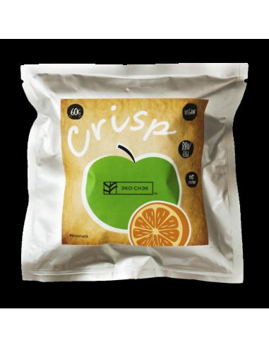 """Хрустики Crisp """"Яблоко-Апельсин"""", Эко-Снек, 60г."""
