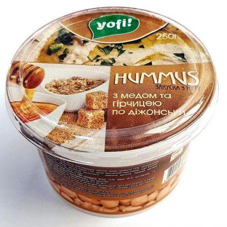 """Хумус, закуска середземноморська з медом і гірчицею, ТМ """"Yofi"""", 250г"""