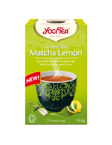 "Чай ""Matcha Lemon"", Yogi Tea, пакет, 1,8г"