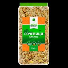 Сочевиця зелена, NATURAL GREEN, 400г