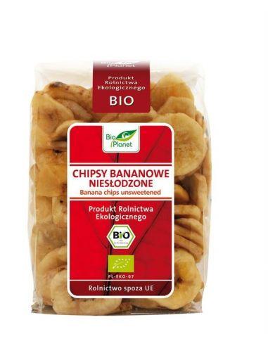 Чипсы банановые с сахаром, 150 г - Bio Planet