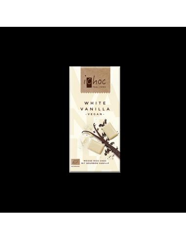 Шоколад білий органічний ванільний, iChoc, 80г.