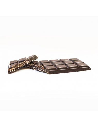 Шоколад из кэроба с кунжутом и арахисом, August, 80г