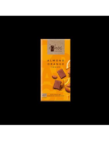Шоколад органический Миндаль-Апельсин, iChoc, 80г.